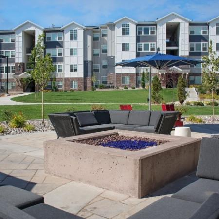 Community Fire Pit | Apartments For Rent Sandy Utah | Rockledge at Quarry Bend