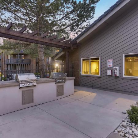 Community Grill Stations | Apartments in Denver CO | Alta Springs Apartments