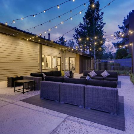 Community Fire Pit and Patio | Apartments in Denver CO | Alta Springs Apartments
