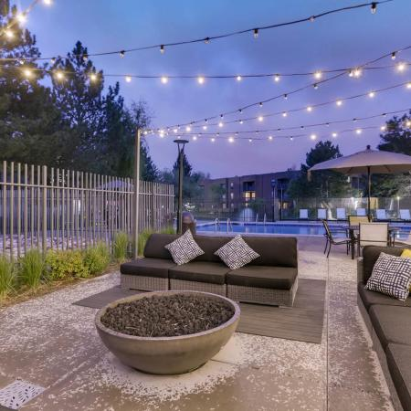 Luxury Fire Pit Area | Apartments in Denver CO | Alta Springs Apartments