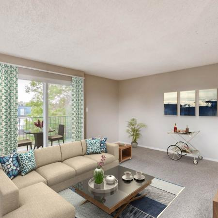 Spacious Living Room | Herriman Apartments | Copperwood Apartments