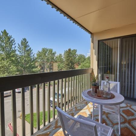 Spacious Apartment Balcony | Studio Apartment In Denver | Dayton Crossing