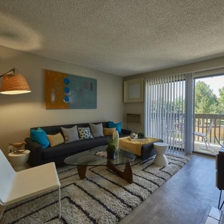 Spacious Living Room   Luxury Apartments in Denver Colorado   Dayton Crossing
