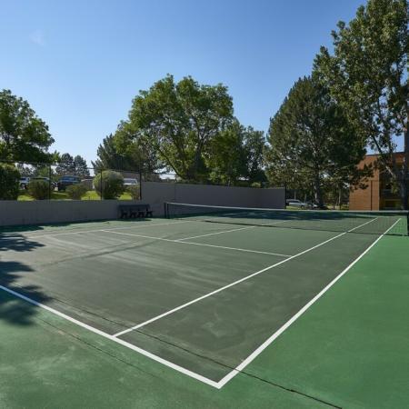 Community Tennis Court | Luxury Apartments in Denver Colorado | Dayton Crossing