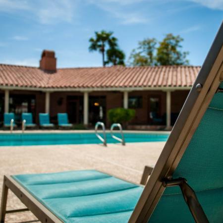 Lounging by Pool | Apartments In Mesa AZ | Genoa Lakes