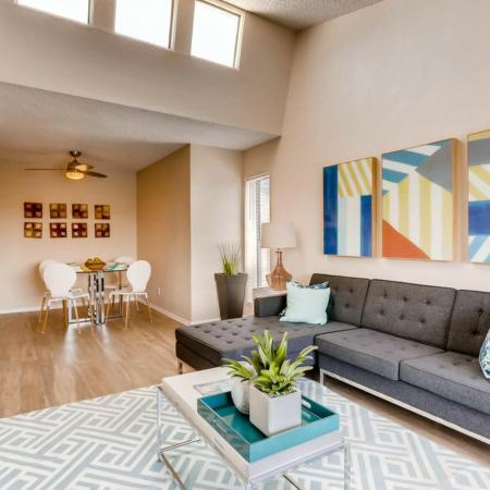 Elegant Living Room | 2 Bedroom Apartments In Lakewood CO | Lakeview Towers At Belmar