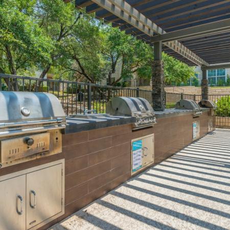 Community BBQ Grills | San Antonio TX Apartment For Rent | Laurel Canyon Apartments