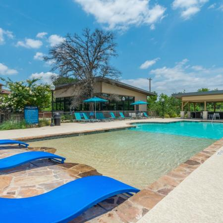 Lounging by the Pool | San Antonio TX Apartments For Rent | Laurel Canyon Apartments