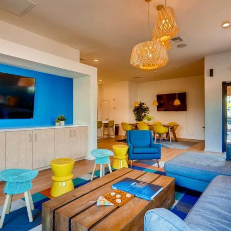 Community Media Room | Apartments Phoenix, AZ | Palm Court Apartments
