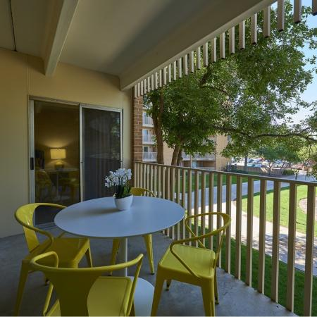 Spacious Apartment Balcony | Denver CO Apartments For Rent | Woodstream Village Apartments
