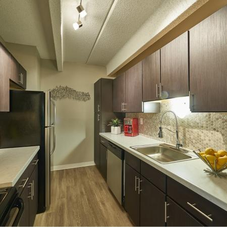 Modern Kitchen | Denver CO Apartment For Rent | Woodstream Village Apartments