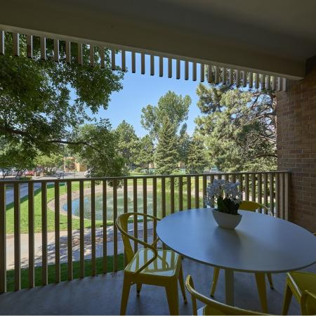 Spacious Porch Area | Denver CO Apartments | Woodstream Village Apartments