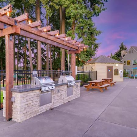 Community BBQ Grills | Tualatin OR Apartment For Rent | Rivercrest Meadows Apartments