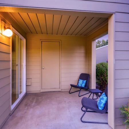Spacious Porch Area | Tualatin OR Apartments | Rivercrest Meadows Apartments