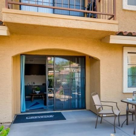 Spacious Porch Area | Scottsdale AZ Apartments | Chazal Scottsdale