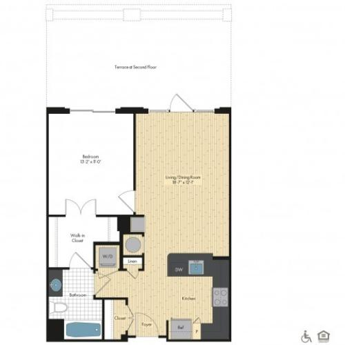 Floor Plan 21 | Luxury Apartments In Bethesda Maryland | Upstairs at Bethesda Row