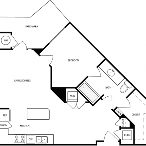 Floor Plan 1 | Apartments In West Jordan | Novi at Jordan Valley Station