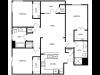 3 Bedroom Floor Plan | West Jordan UT Apartments | Novi at Jordan Valley Station