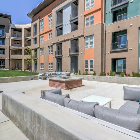 Resident Fire Pit | Apartments For Rent West Jordan Utah | Novi at Jordan Valley Station