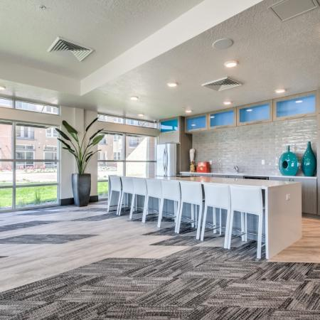 Interior Lobby | West Jordan Utah Apartments | Novi at Jordan Valley Station