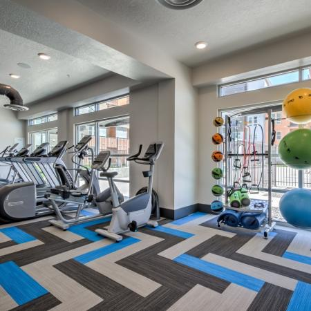 24-hour Fitness Center | West Jordan Utah Apartments | Novi at Jordan Valley Station