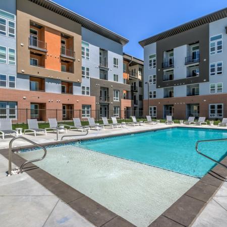 Swimming Pool | West Jordan Utah Apartments | Novi at Jordan Valley Station