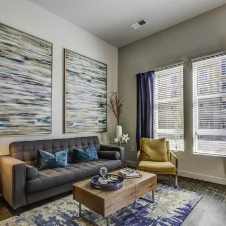 Luxurious Living Room | West Jordan Utah Apartments | Novi at Jordan Valley Station