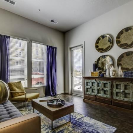 Elegant Living Area | West Jordan UT Apartments | Novi at Jordan Valley Station