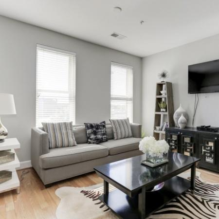 Spacious Living Room | Luxury Apartments In Bethesda Maryland | Upstairs at Bethesda Row