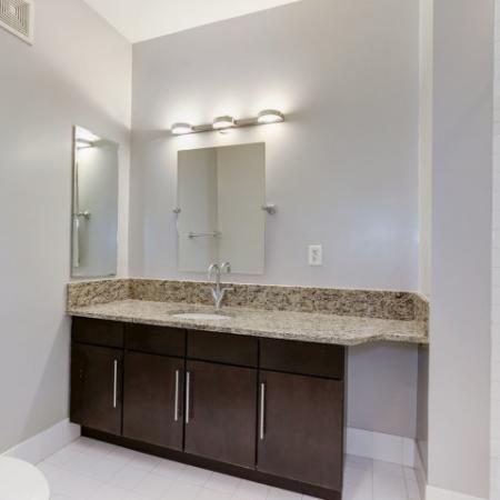 Ornate Bathroom | Luxury Apartments In Bethesda Maryland | Upstairs at Bethesda Row