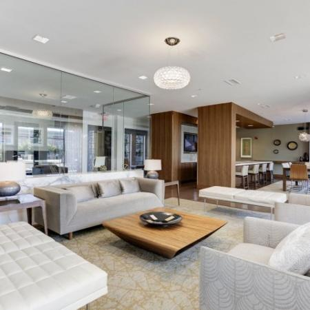 Elegant Resident Club House | Bethesda Luxury Apartments | Upstairs at Bethesda Row