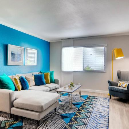Spacious Living Room | Scottsdale AZ Apartment | The Cortesian Apartments