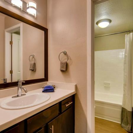 Ornate Bathroom | Scottsdale AZ Apartment | The Cortesian Apartments