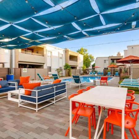 Lounging by the Pool | Apartment In Scottsdale | The Cortesian Apartments