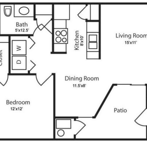 Floor Plan 1 | Apartments In Salt Lake City | Park Vue