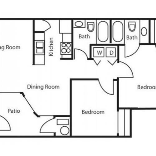 Floor Plan 3 | Apartments In Salt Lake City | Park Vue