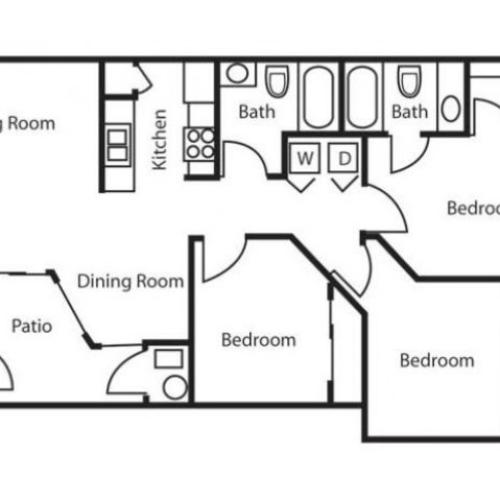 Floor Plan 4 | Salt Lake City Apartments | Park Vue
