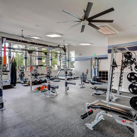 Resident Fitness Center | Apartment In Lakewood | Lakeview Towers At Belmar