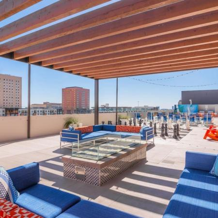 Rooftop Deck with City Views | Houston House