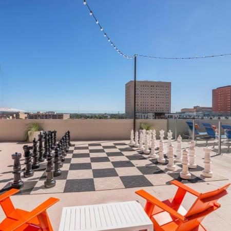 Rooftop Chess Game | Houston House