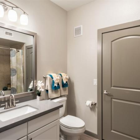 Ornate Bathroom | Richmond Apartment Rentals | Deseo at Grand Mission