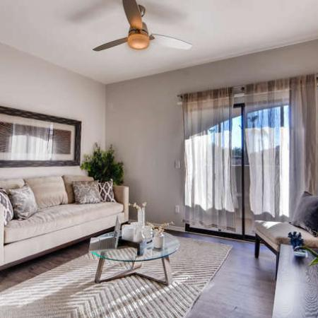 Spacious Living Room | Apartments in Phoenix, AZ | Palm Court Apartments