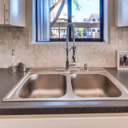 Modern Kitchen | Phoenix AZ Apartment For Rent | Palm Court Apartments