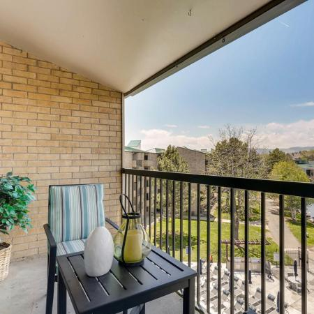 Spacious Apartment Balcony | 2 Bedroom Apartments In Lakewood CO | Lakeview Towers At Belmar