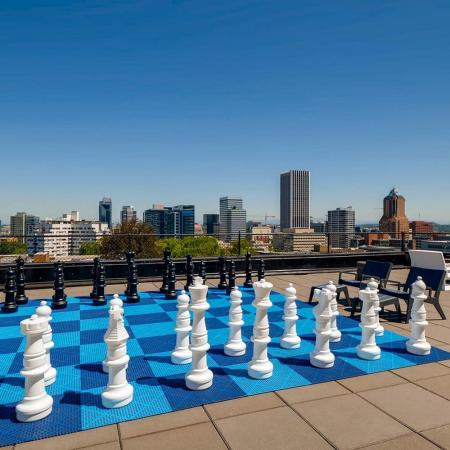 Rooftop Chess | Portland OR Apartments For Rent | Park Plaza