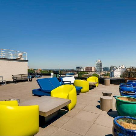 Rooftop Lounge | Portland OR Apartments For Rent | Park Plaza