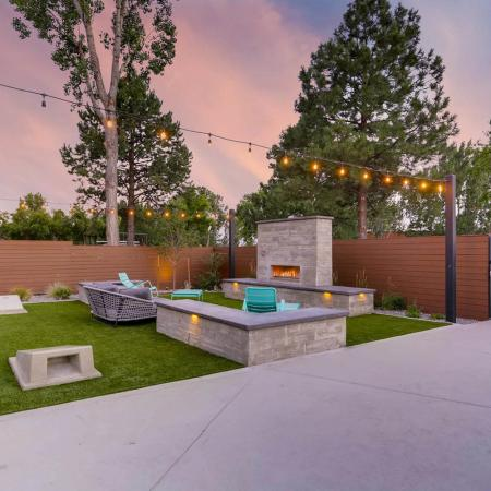 Resident Fire Pit | Apartments Homes for rent in Denver, CO | Woodstream Village Apartments