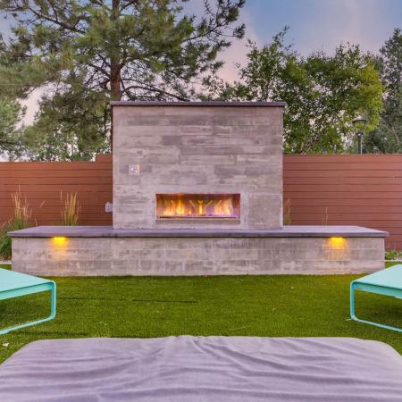 Community Fire Pit | Apartments Denver, CO | Woodstream Village Apartments