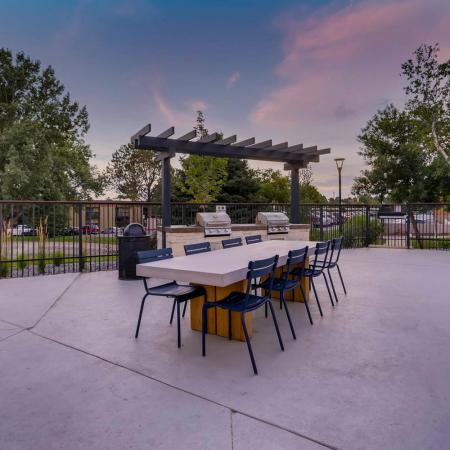 Community BBQ Grills | Denver CO Apartment For Rent | Woodstream Village Apartments