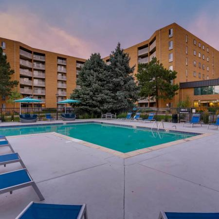 Sparkling Pool | Apartments for rent in Denver, CO | Woodstream Village Apartments